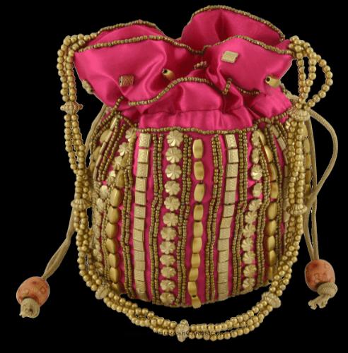 test Potli Bags (Batwa Bags) - BB-Matuki Silk Batwa 201P