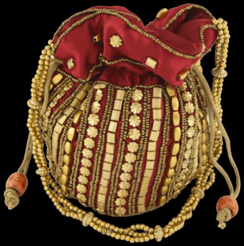 test Potli Bags (Batwa Bags) - BB-Matuki Silk Batwa 201M