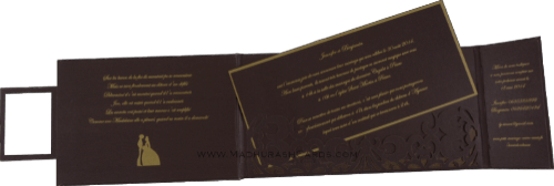 Customized Wedding Invitations - CZC-9007 - 4