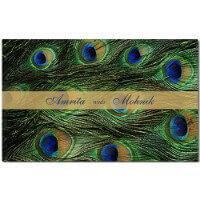 Muslim Wedding Cards - MWC-Peacock