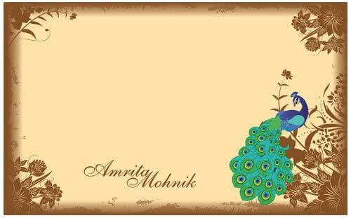 Muslim Wedding Cards - MWC-Peacock - 3