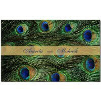 Hindu Wedding Cards - HWC-Peacock