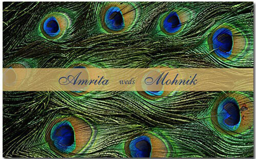Hindu Wedding Invitations - HWC-Peacock - 2