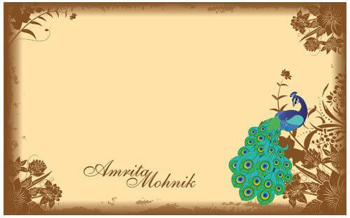 Hindu Wedding Invitations - HWC-Peacock - 3