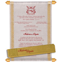 Scroll Wedding Invitations - SC-5035