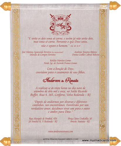 test Scroll Wedding Invitations - SC-5035