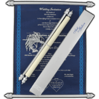 Scroll Wedding Invitations - SC-6051
