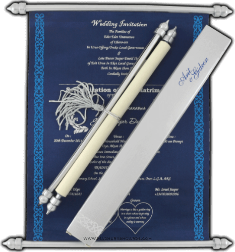 test Scroll Wedding Invitations - SC-6051