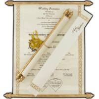 Scroll Wedding Invitations - SC-6054CG