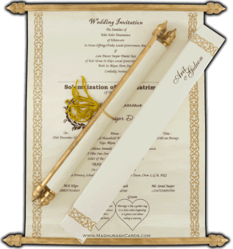 test Scroll Wedding Invitations - SC-6054CG