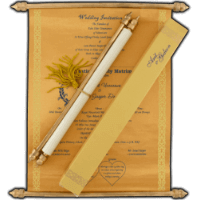 Scroll Wedding Invitations - SC-6056BG
