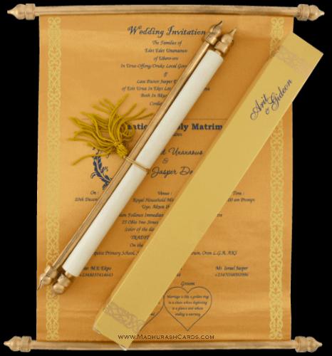 test Scroll Wedding Invitations - SC-6056BG