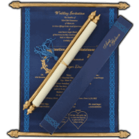 Scroll Wedding Invitations - SC-6058BGB