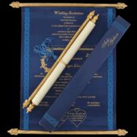 Scroll Wedding Invitations - SC-6058BGB