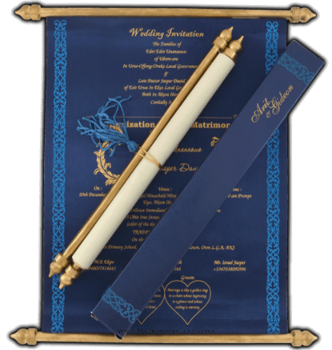 test Scroll Wedding Invitations - SC-6058BGB