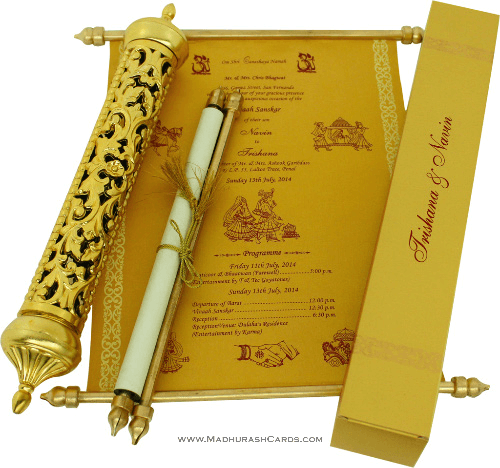 test Royal Scroll Invitations - SC-6006