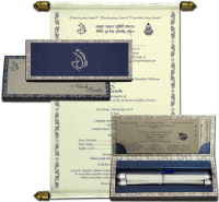 Boxed Scroll Cards - SC-5111BSC