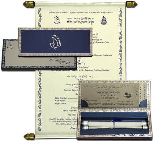 Boxed Scroll Cards - SC-5111BSC - 2