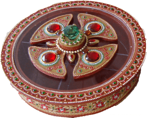 Traditional Gifts - TG-Dry fruit box - Round