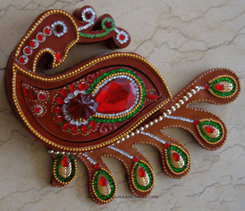 test Traditional Gifts - TG-Peacock Shape Box