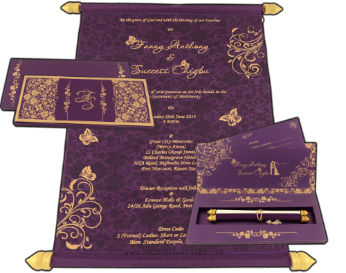 Boxed Scroll Cards - SC-6045V