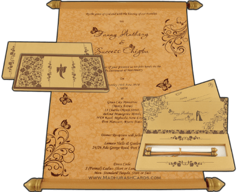 Boxed Scroll Cards - SC-6042G