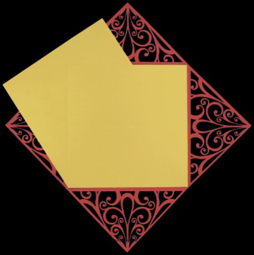 Custom Wedding Cards - CZC-9004RG - 4