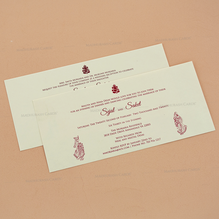 Hindu Wedding Cards - HWC-14116 - 4