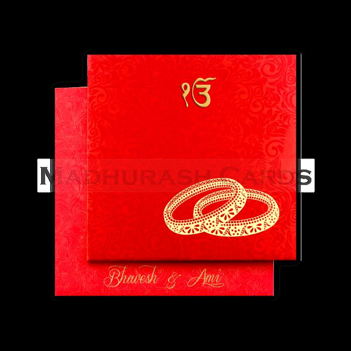 Sikh Wedding Cards - SWC-7003S - 3