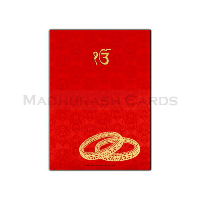 Sikh Wedding Cards - SWC-7014S