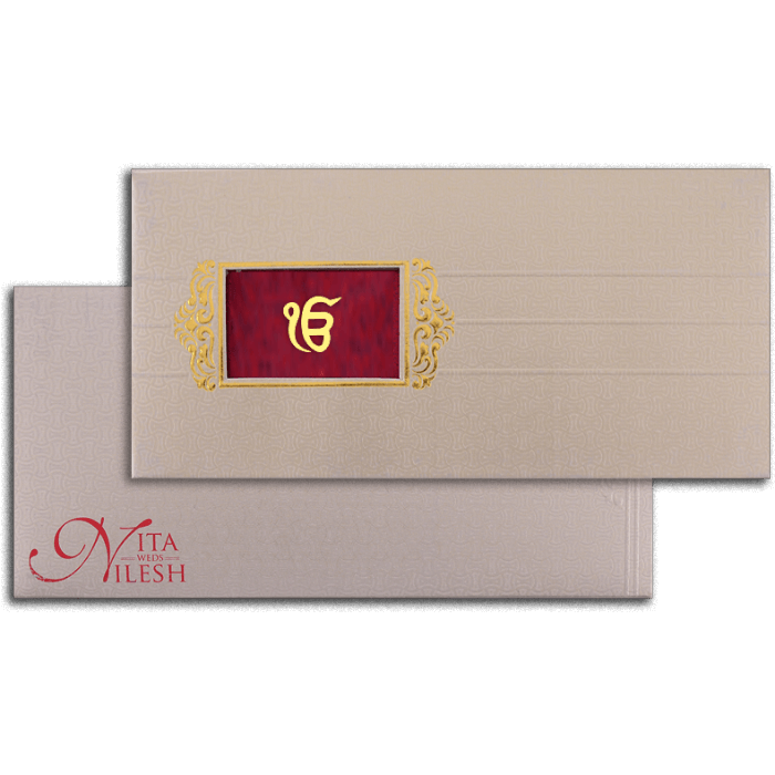 Sikh Wedding Cards - SWC-7048S