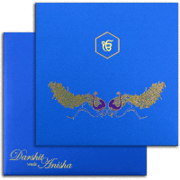 Sikh Wedding Cards - SWC-7498S