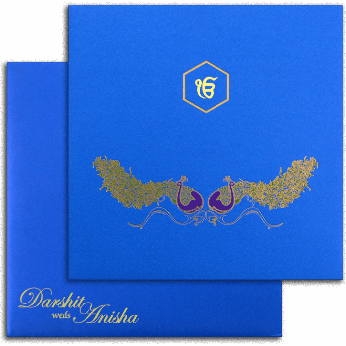 Sikh Wedding Cards - SWC-7498S - 2