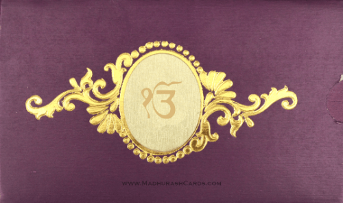 Sikh Wedding Cards - SWC-7711S