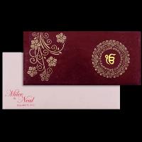 Sikh Wedding Cards - SWC-14108S