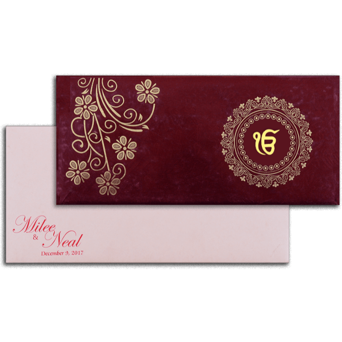 Sikh Wedding Cards - SWC-14108S - 2