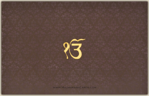 Sikh Wedding Cards - SWC-3305S
