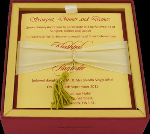Luxury Wedding Cards - LWC-105R - 4