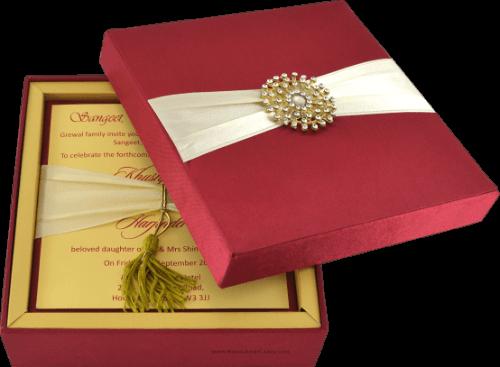 Luxury Wedding Cards - LWC-105R - 5