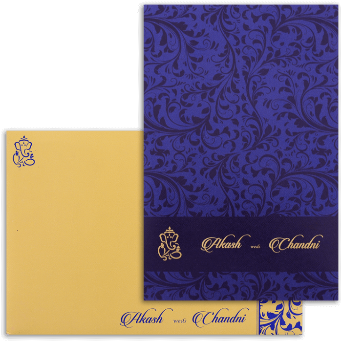 test Custom Wedding Cards - CZC-9068BG