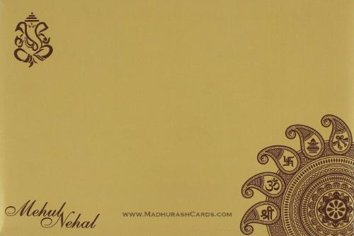 Custom Wedding Cards - CZC-9106BRG - 3