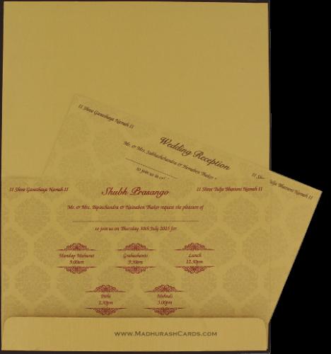 Custom Wedding Cards - CZC-9106BRG - 4