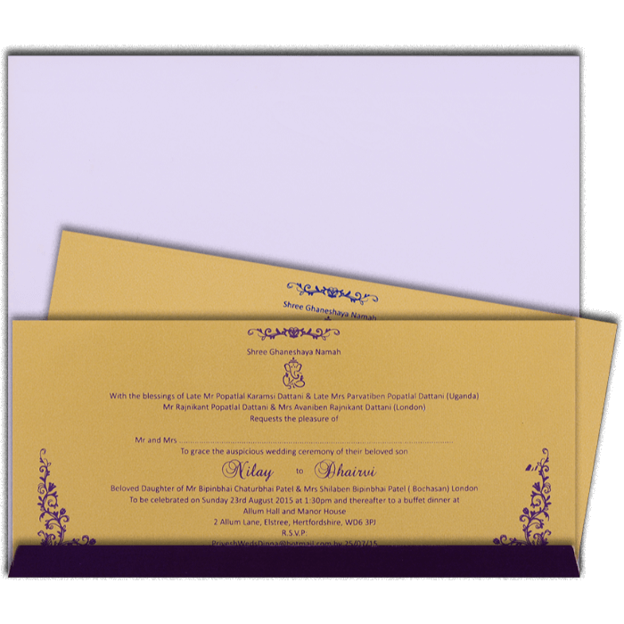 Designer Wedding Cards - DWC-14182 - 3