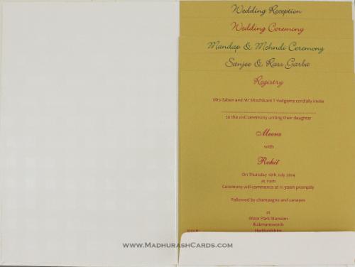 Custom Wedding Cards - CZC-9109CG - 4