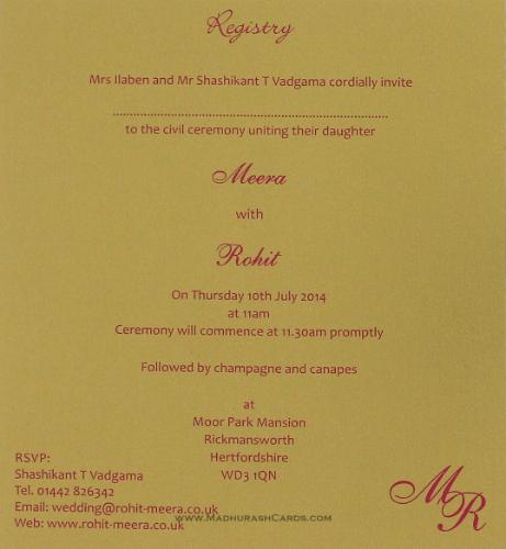 Custom Wedding Cards - CZC-9109CG - 5