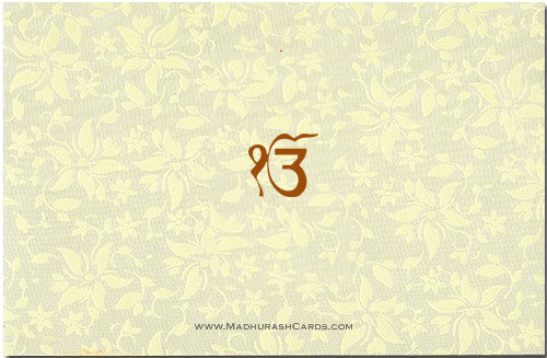 Sikh Wedding Invitations - SWC-9025CCS