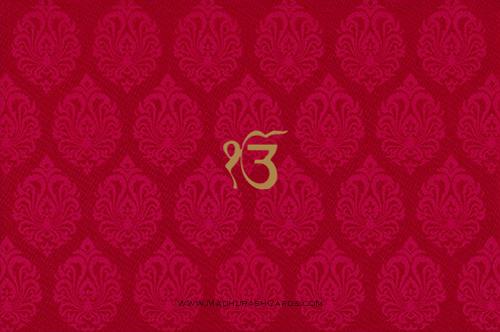 Sikh Wedding Invitations - SWC-9029RCS