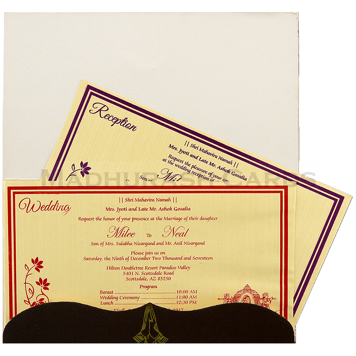 Hindu Wedding Cards - HWC-7595 - 5