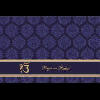 Sikh Wedding Cards - SWC-9035BGS