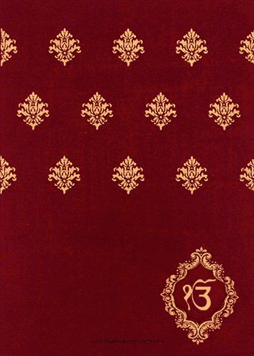 Sikh Wedding Invitations - SWC-9043RCS